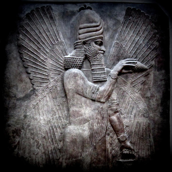 Assyrian god by lostknightkg