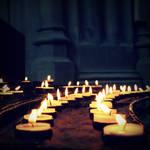 Bath City Cathedral candles