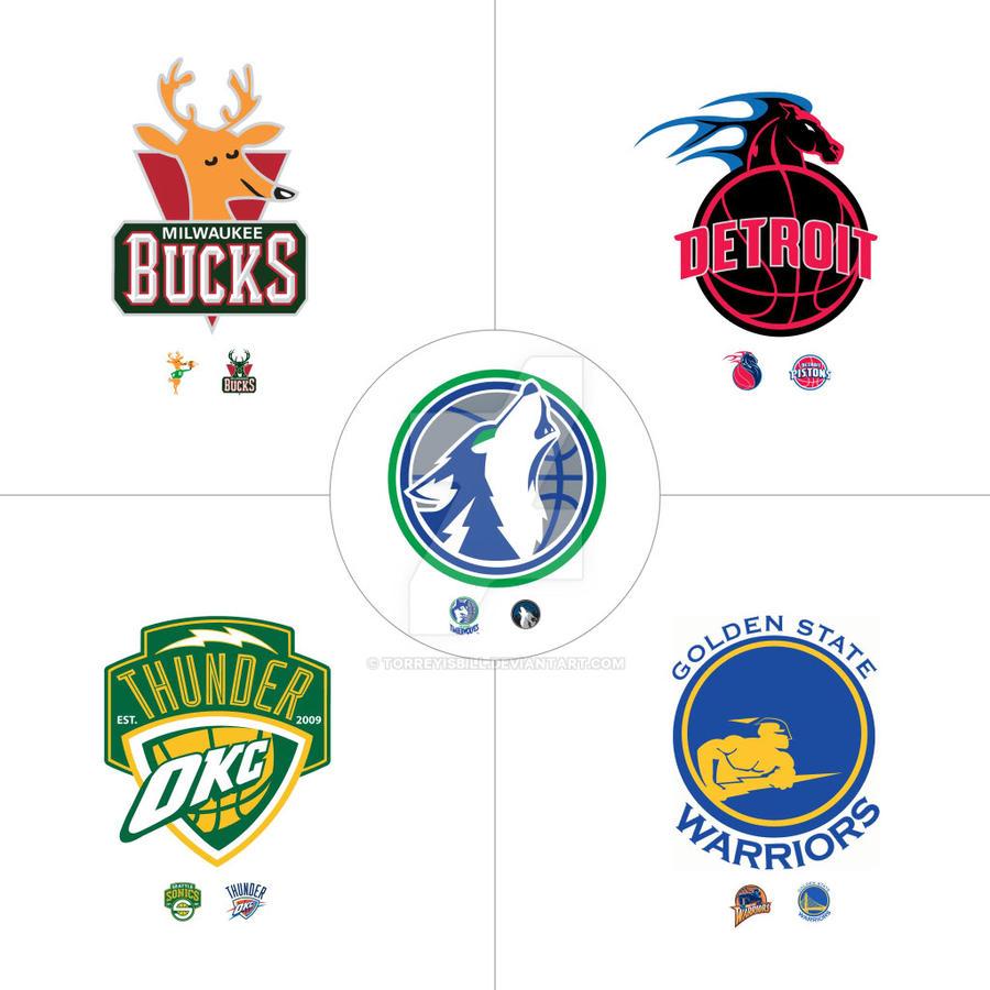 Hybrid NBA Logos: Old School + New School by TorreyIsBill ...