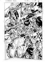FANTASTIC FORCE 11 pg.19 pencils by PinoRinaldi