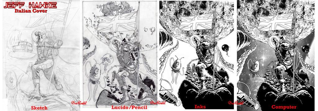 JEFF HAWKE- Italian Cover- Il FUMETTO Anafi by PinoRinaldi