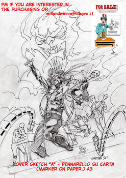 On Sale:  cover sketch A- A3-Marker on Paper