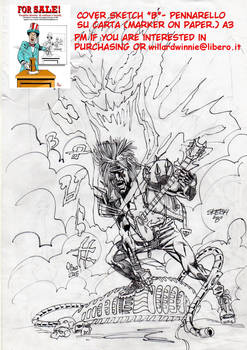 On Sale:  cover sketch B- A3-Marker on Paper