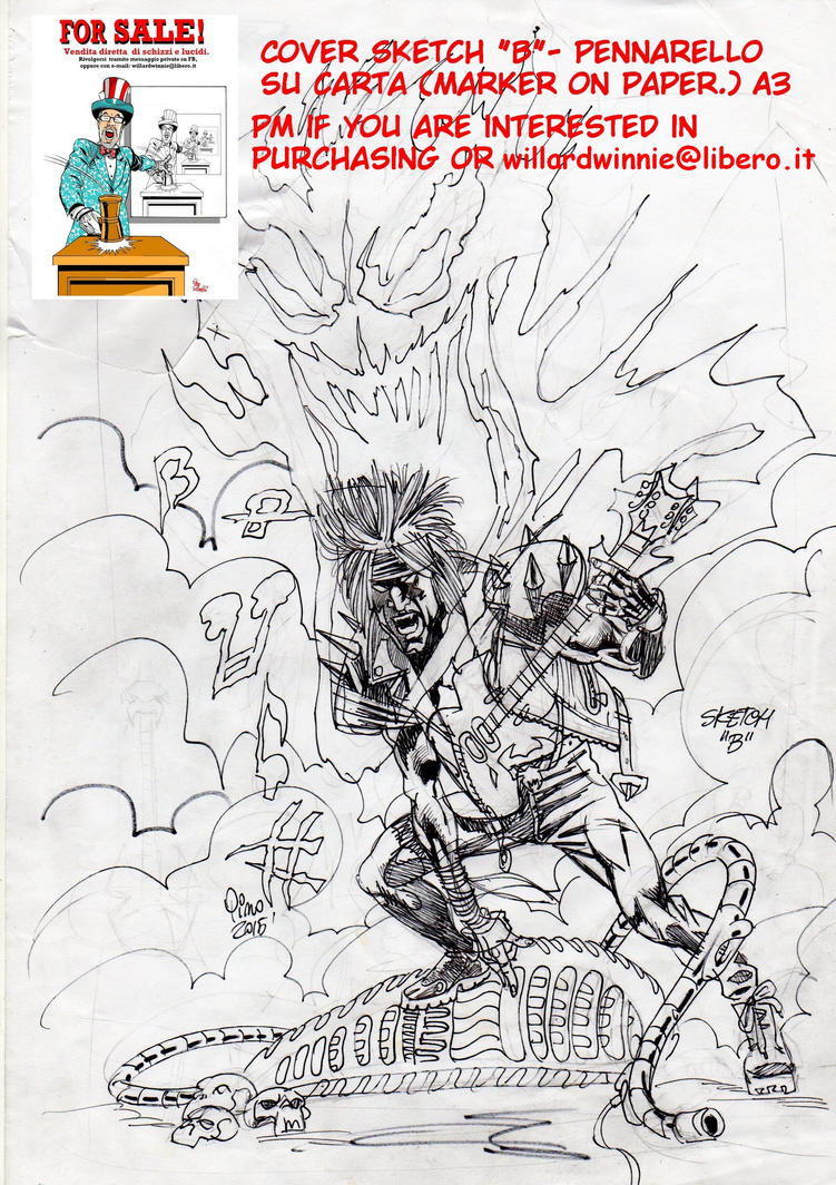 On Sale:  cover sketch B- A3-Marker on Paper by PinoRinaldi