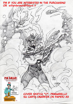 On Sale:  cover sketch C- A3-Marker on Paper
