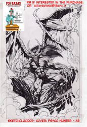 On Sale:  cover sketch A- A3-Psyco Hunter- lucido