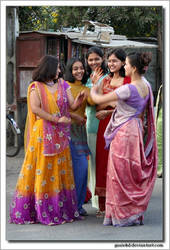 dancing on the street in India