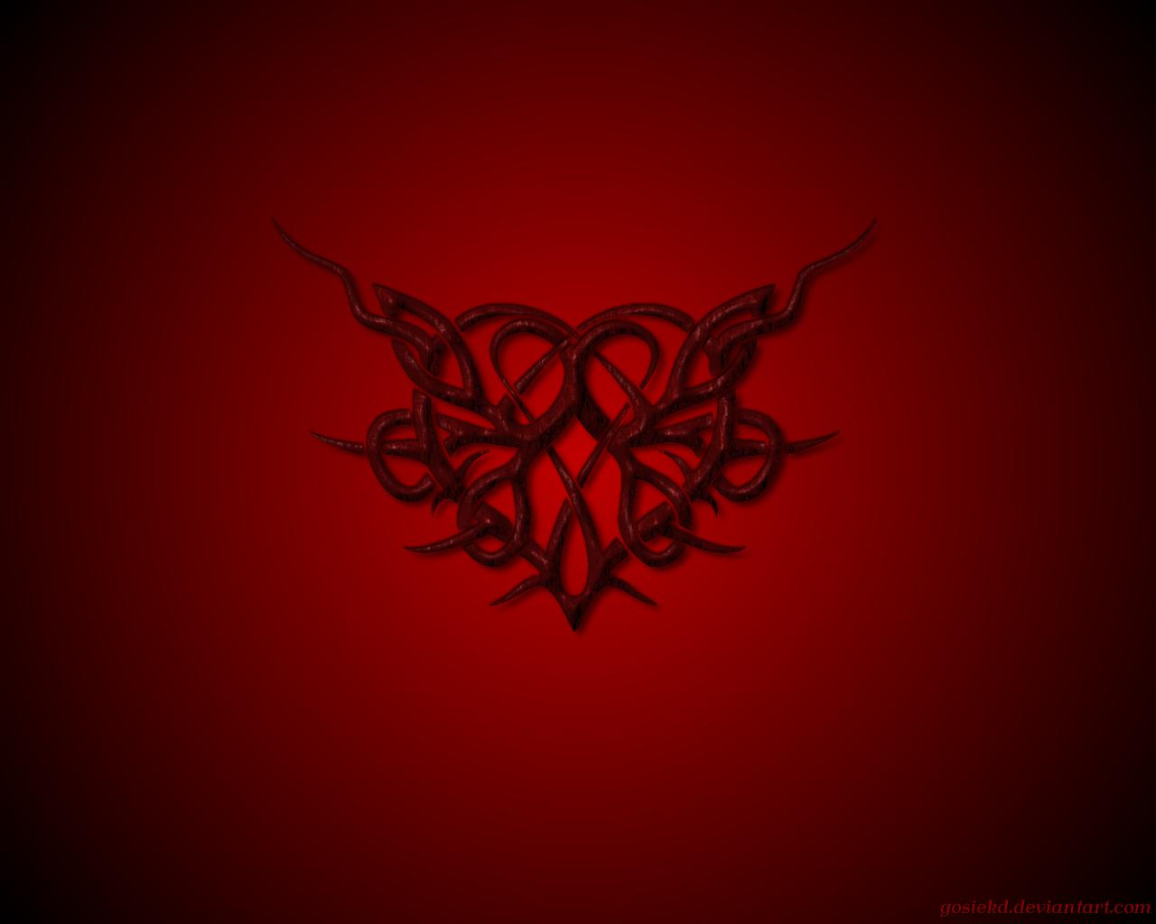 Dark Heart Wallpaper | Letter a Studio