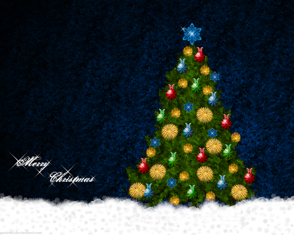 Christmas tree wallpaper by gosiekd