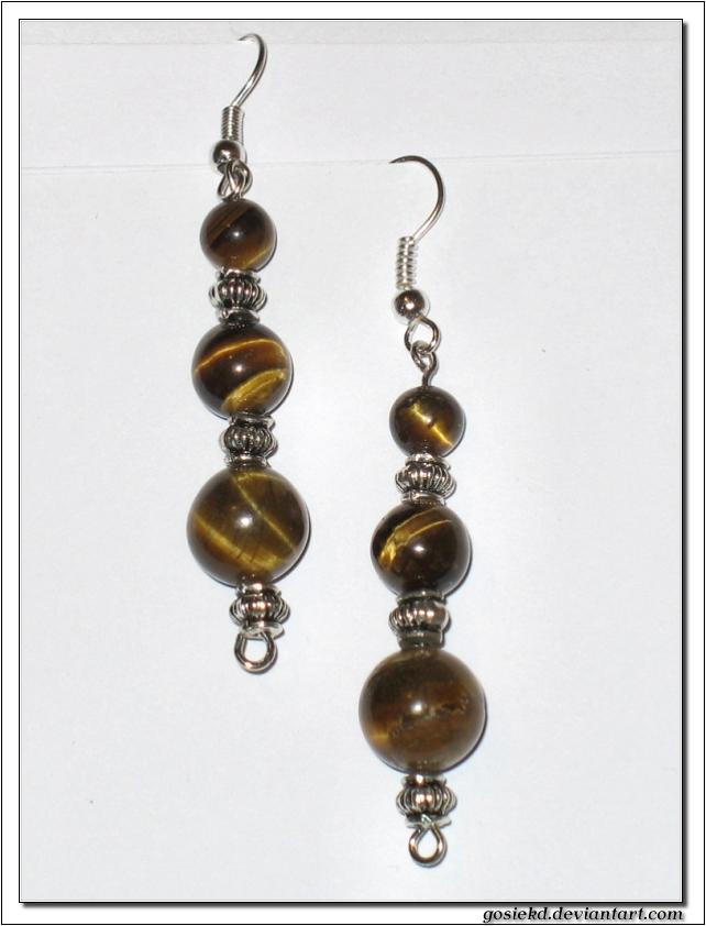 tiger eye earrings by gosiekd