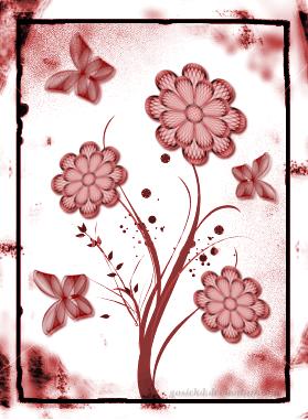 kwiaty i motyle by gosiekd