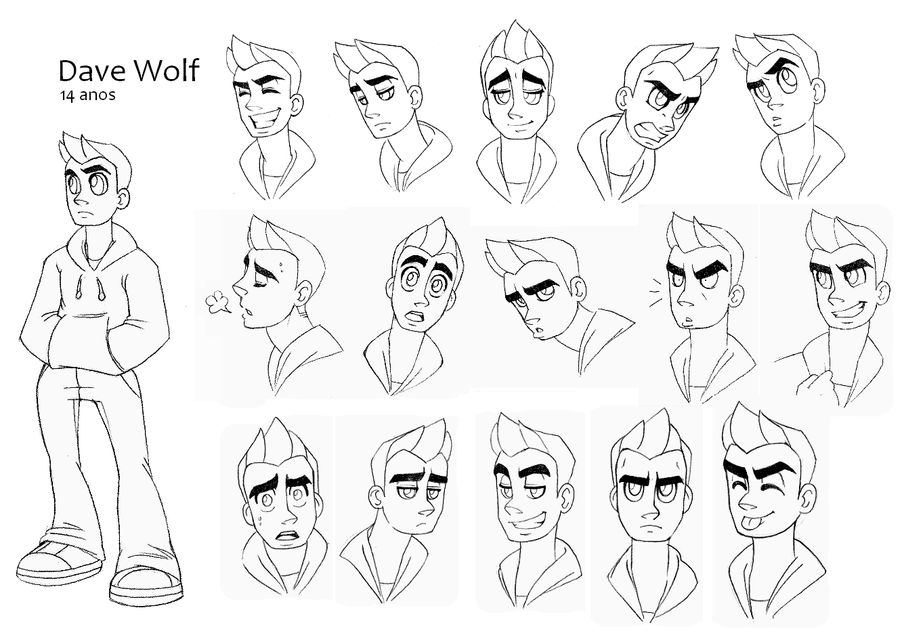 Model Sheets - 00 Dave Wulf by NanaRamos