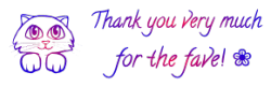 Cat   Thank You Very Much For The Fave 2 By Astoko by mum666