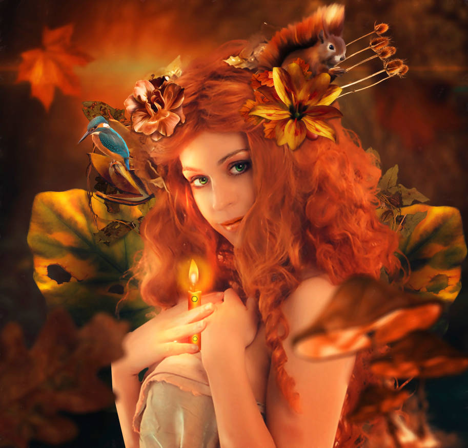 Autumn Candle by AusWolf666