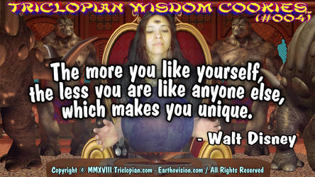 Triclopian Wisdom Cookies (#4 - Walt Disney)