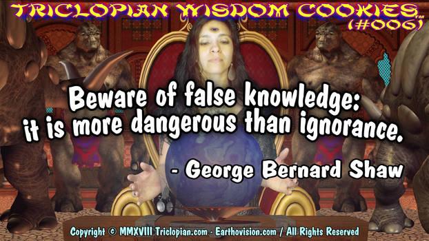 Triclopian Wisdom Cookies (#6 - George Bernard)