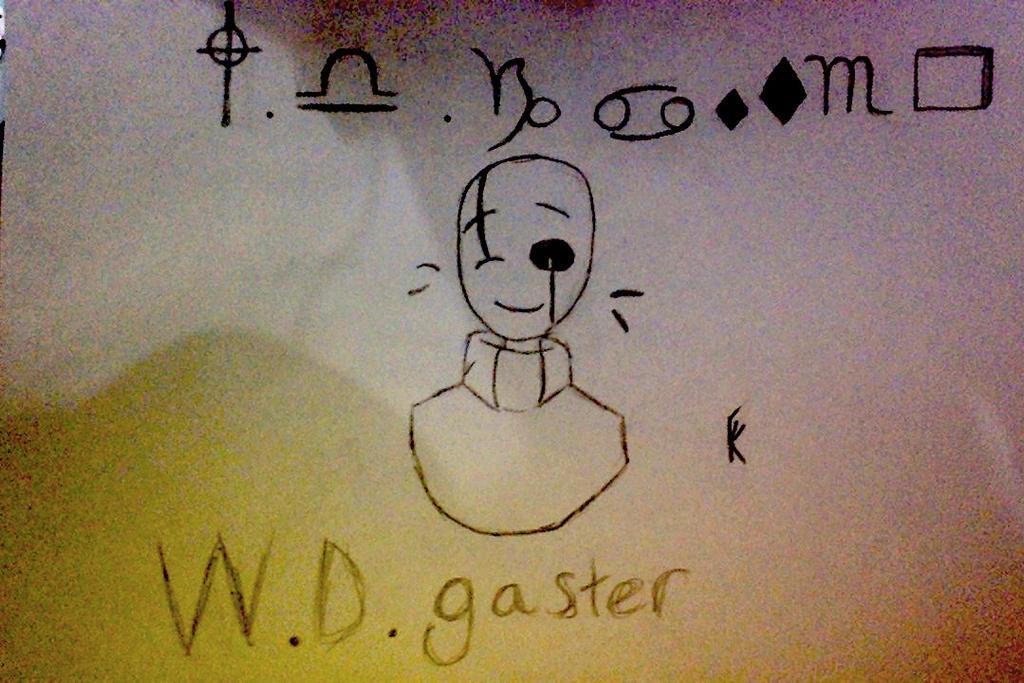 undertale:::W.D.Gaster by tomkat25