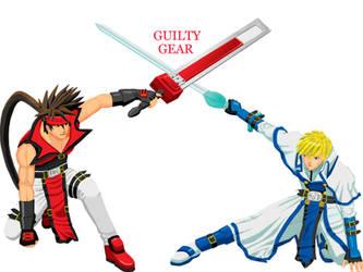 sol and ky guiltygear by Robin-Arc