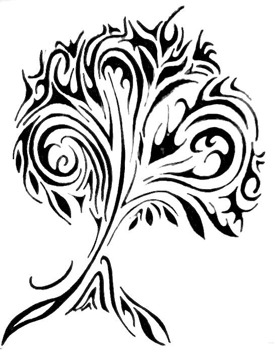Cool Tree Drawing Tattoo Designs