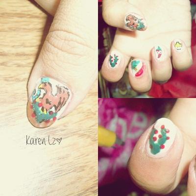 Mexican Nail Art Viva Mexico Cabrones By Wo0o0pita On Deviantart