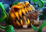 Pumpkin monster Vore YCH