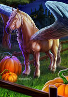 Abraxan horse.Fantastic beasts and where to find by maryquiZe