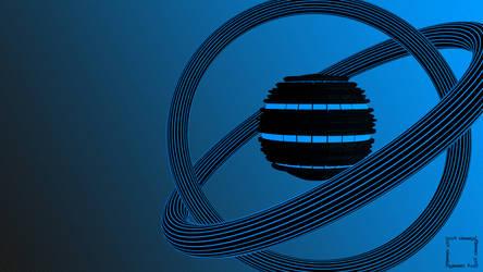 Blue Atom Wallpaper