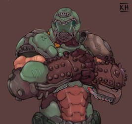 Doom slayer by KelvinHiu