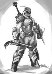 Doom Guy medieval style by KelvinHiu