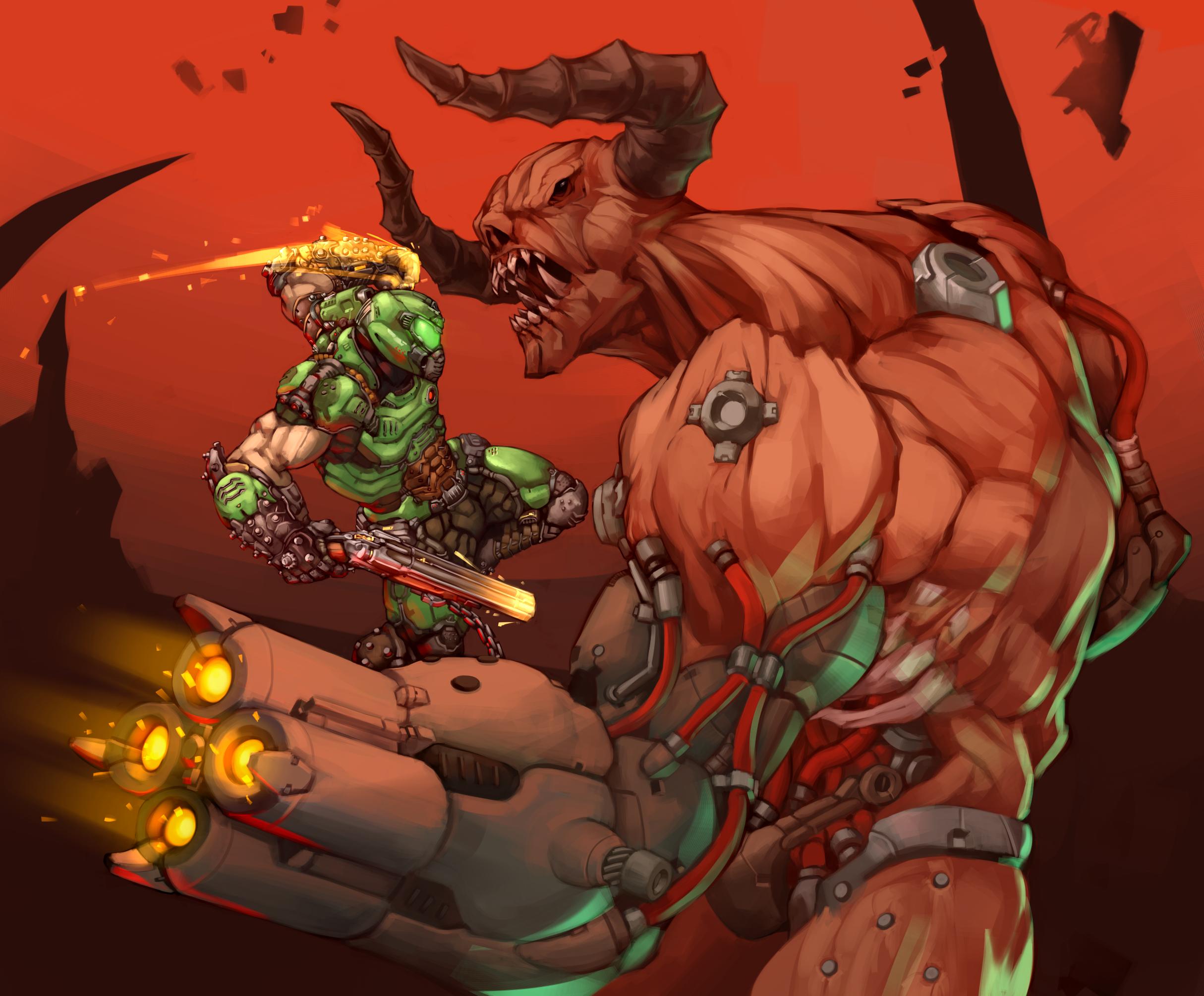 Doom Slayer Vs Cyberdemon By Kelvinhiu On Deviantart