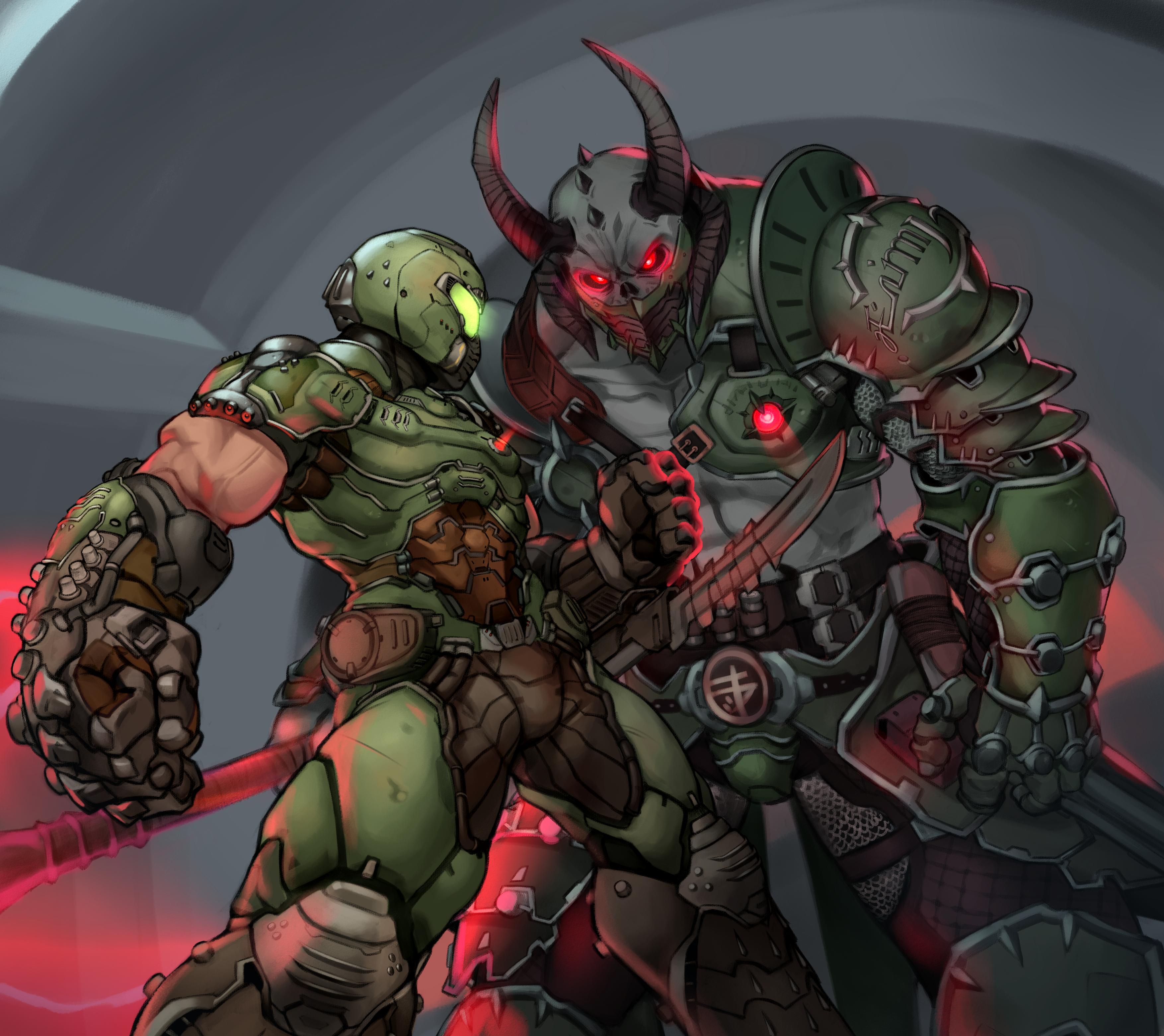 Doom Slayer Vs Marauder Fanart By Kelvinhiu On Deviantart
