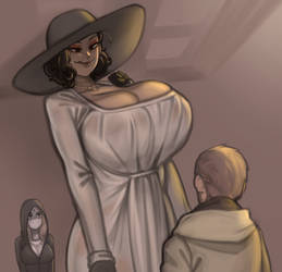 RE8 tall vampire milf