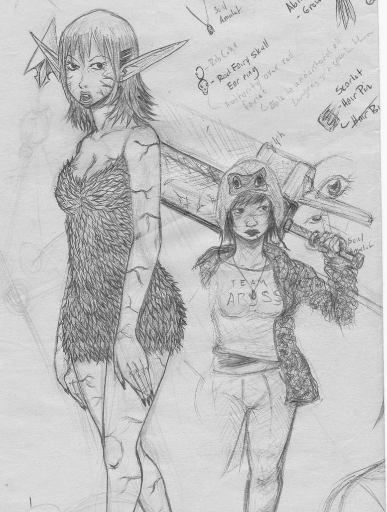 Unfinished Sketch 2014-02 by JigenSuzuki