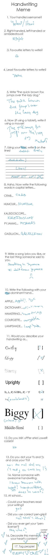 Handwriting Meme by YOTORI