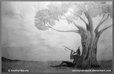 Krishna - waiting for radha by SUNNYNARULA18