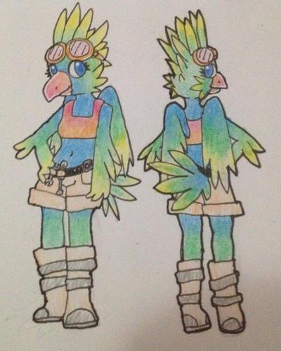 Bird girl by Huggggs