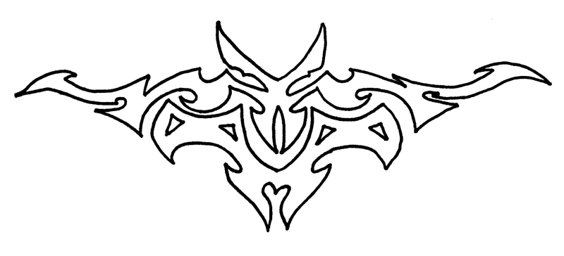 Lower Back Tattoo Outline by DesolateDesire on deviantART
