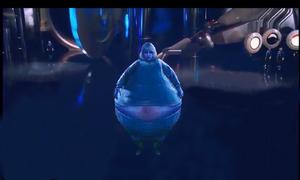 Violet inflates wide shot all guests gone