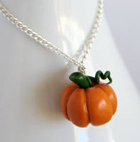 Pumpkin Necklace by NeverlandJewelry
