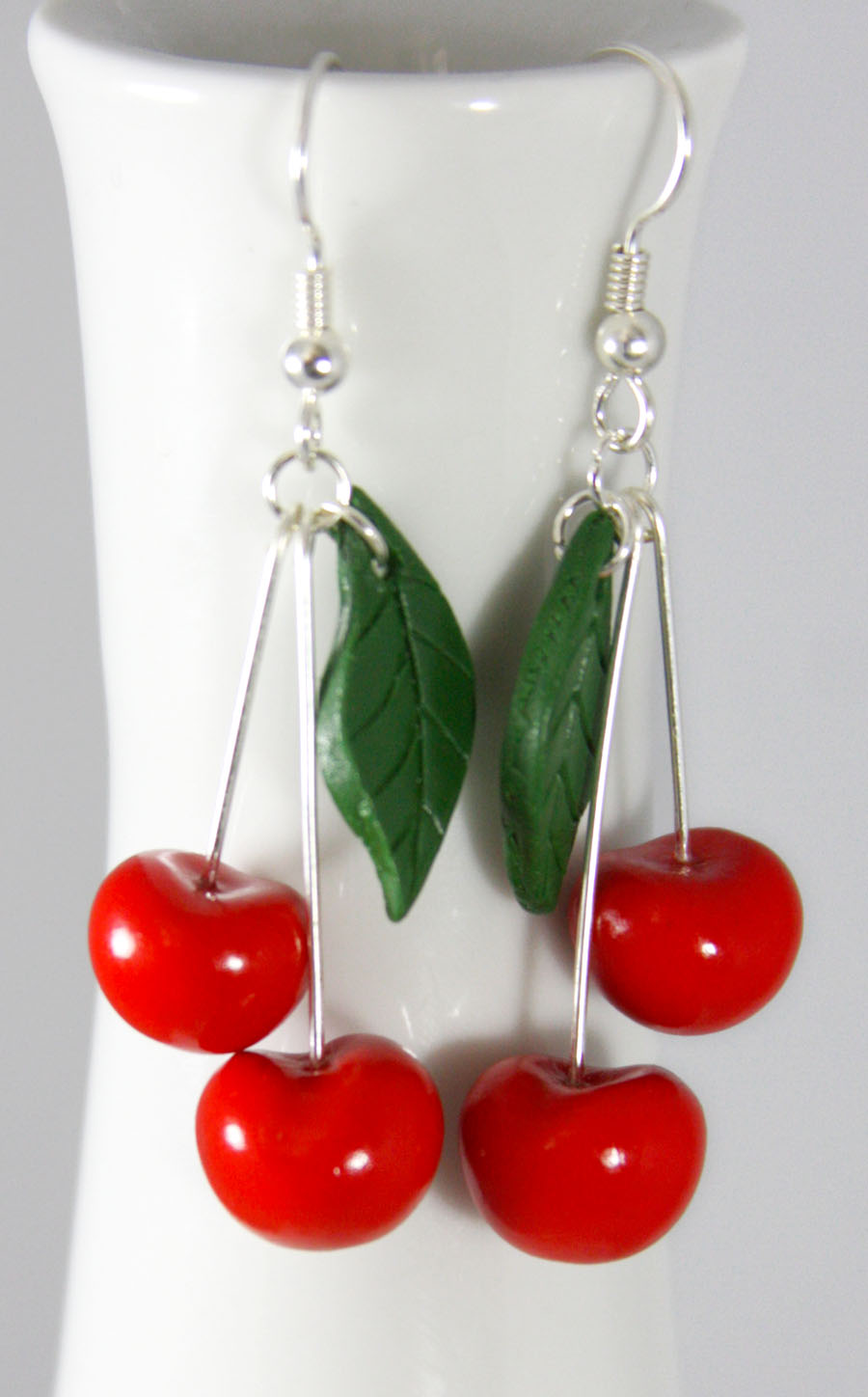 Cherry Earrings by NeverlandJewelry