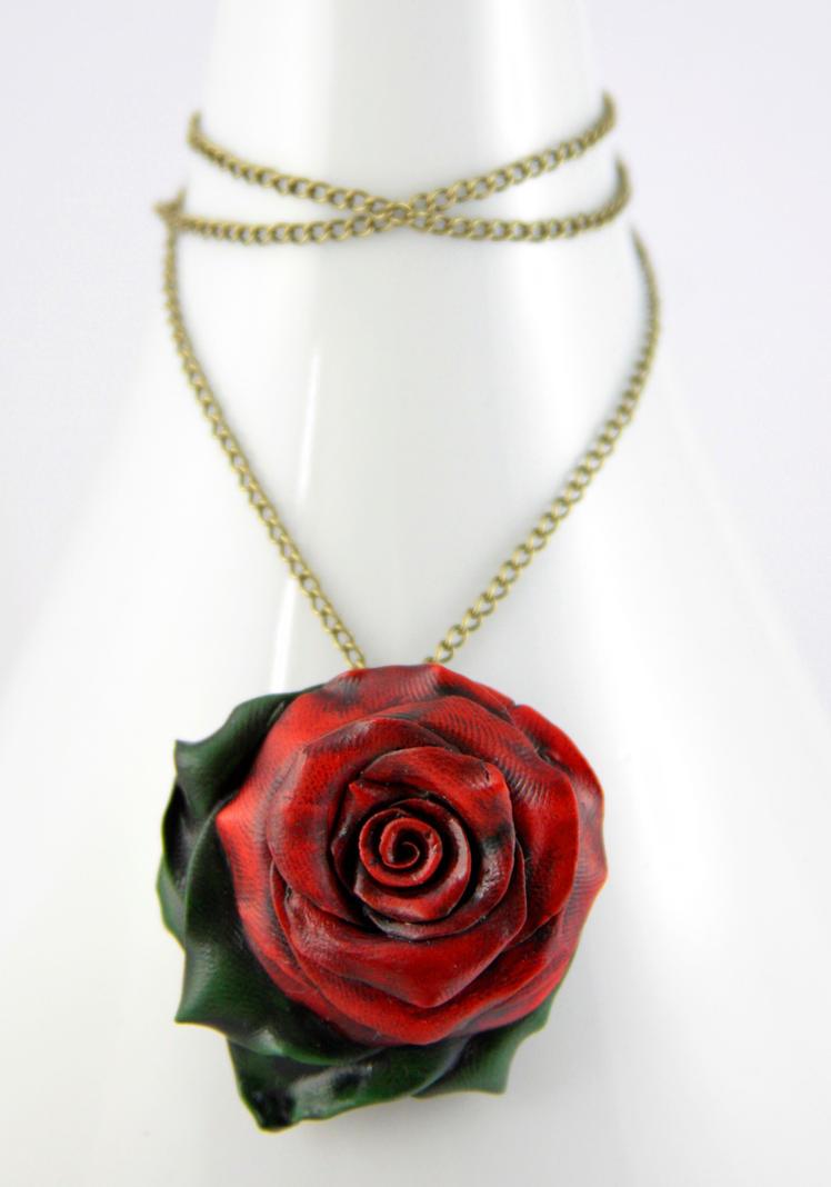 Dark garden red rose necklace by neverlandjewelry on deviantart dark garden red rose necklace by neverlandjewelry mozeypictures Choice Image