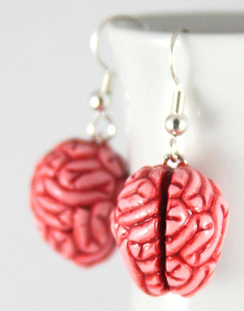 Mmmm Brains Earrings by NeverlandJewelry