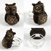 Owl Ring by NeverlandJewelry