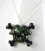 Toxic Zombie Kiss Necklace by NeverlandJewelry