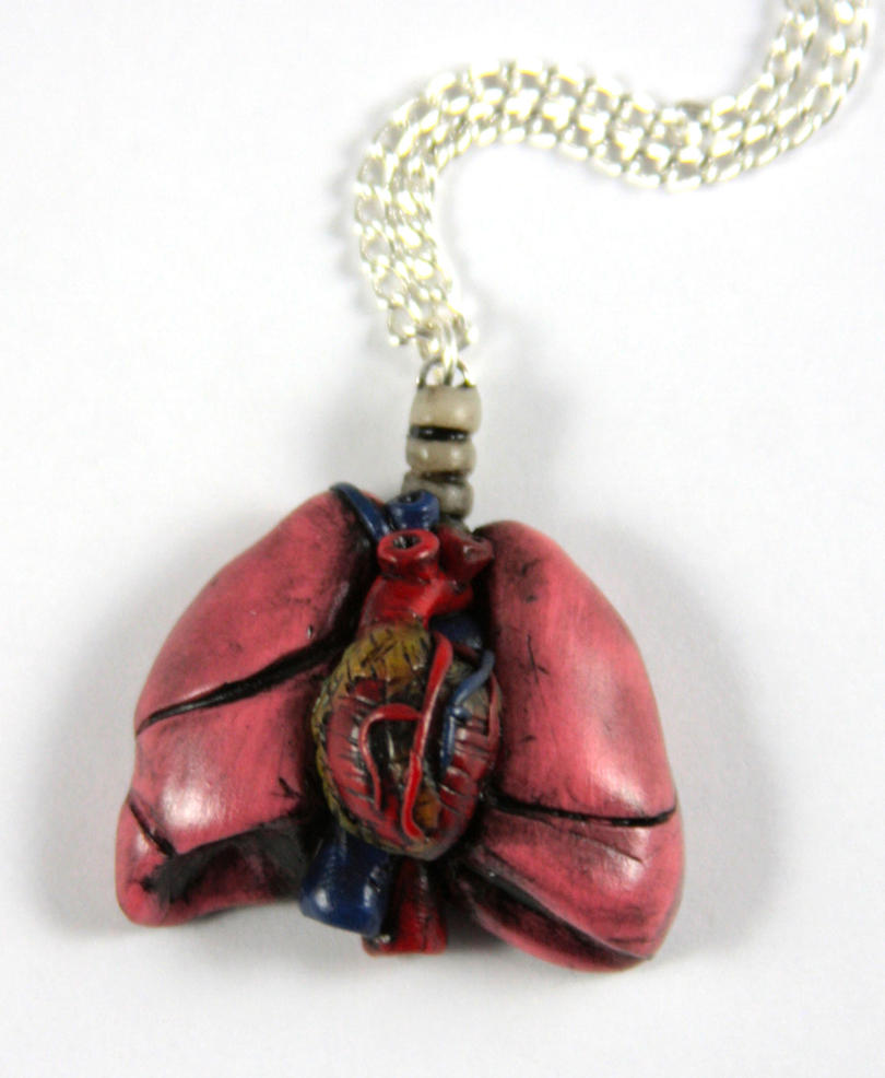 Lung and Heart Necklace by NeverlandJewelry