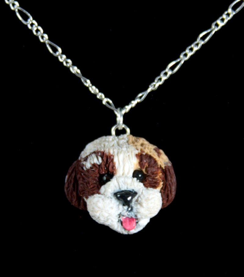 Cali Girl Shih Tzus Necklace by NeverlandJewelry