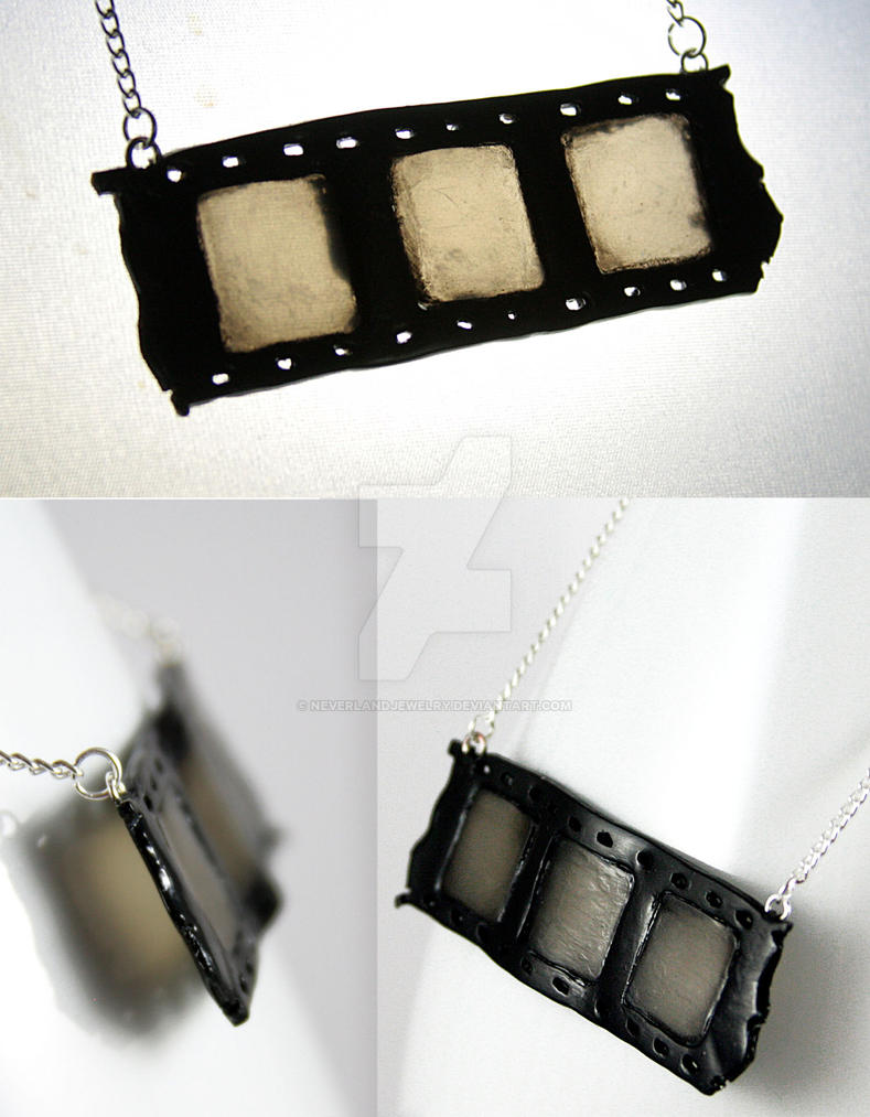 Old Film Necklace by NeverlandJewelry