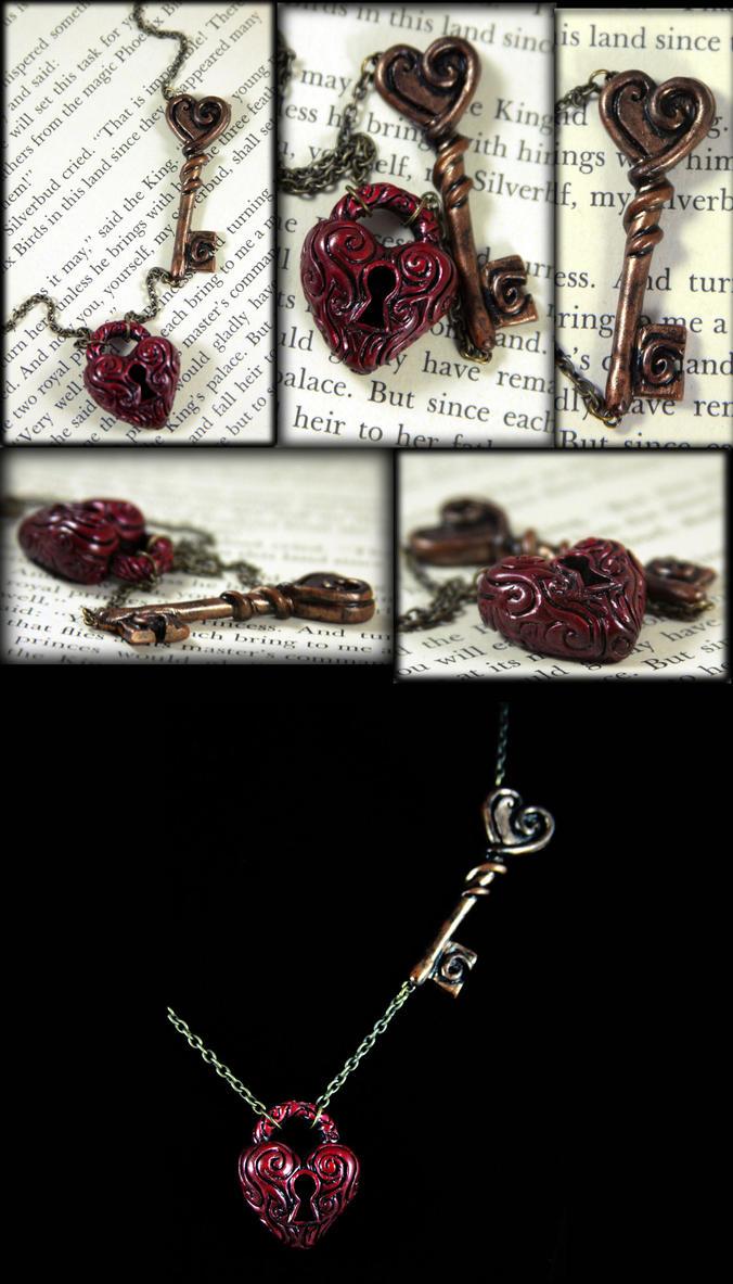 Heart's Lock and Key by NeverlandJewelry