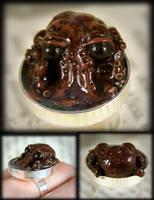 Baby Octopus Pond Ring by NeverlandJewelry