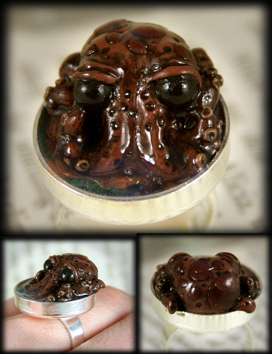 Baby Octopus Pond Ring by NeverlandJewelry